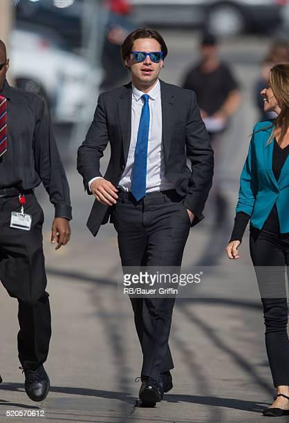Sebastian Stan is seen at 'Jimmy Kimmel Live' on April 11 2016 in Los Angeles California