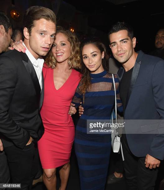Sebastian Stan Margarita Levieva Cara Santana and Jesse Metcalfe attend the Charlotte Ronson Spring / Summer 15 After Party at Avenue on September 5...