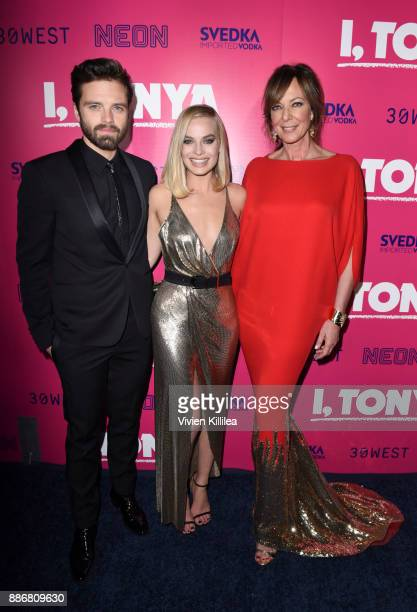 Sebastian Stan Margot Robbie and Allison Janney attend NEON and 30WEST Present the Los Angeles Premiere of 'I Tonya' Supported By Svedka on December...