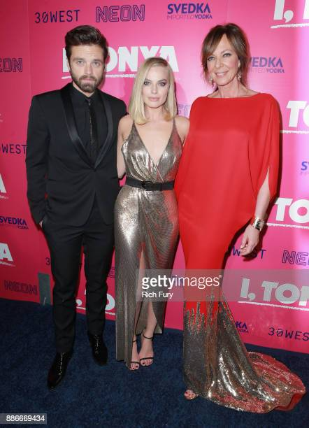 Sebastian Stan Margot Robbie and Allison Janney attend Premiere Of Neon And 30 West's I Tonya' at the Egyptian Theatre on December 5 2017 in...