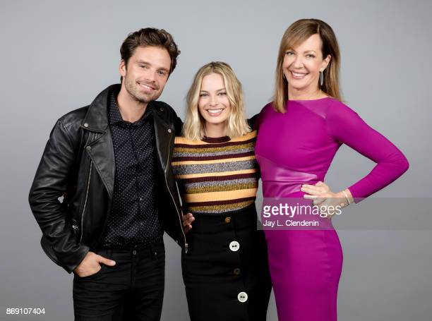 Sebastian Stan Margot Robbie and Allison Janney from the film 'I Tonya' poses for a portrait at the 2017 Toronto International Film Festival for Los...