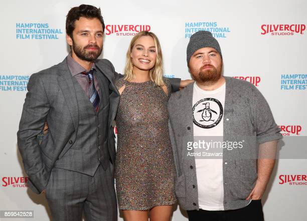 Sebastian Stan Margot Robbie and Paul Walter Hauser attend the red carpet for ' I Tonya' at Guild Hall during Hamptons International Film Festival...