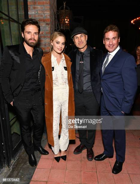Sebastian Stan Margot Robbie director Craig Gillespie and screenwriter Steven Rogers attend the 'I Tonya' New York premiere after party on November...