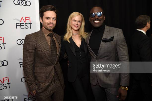 Sebastian Stan Nicole Kidman and Shamier Anderson attend the gala screening of 'Destroyer' during AFI FEST 2018 at TCL Chinese Theatre on November 5...