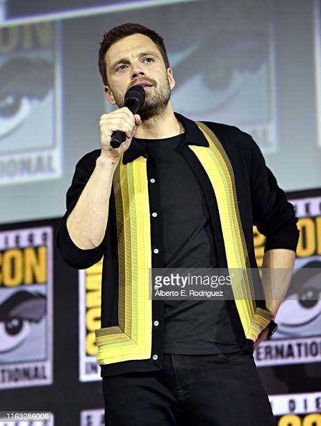 Sebastian Stan of Marvel Studios' 'The Falcon and The Winter Soldier' at the San Diego Comic-Con International 2019 Marvel Studios Panel in Hall H on...