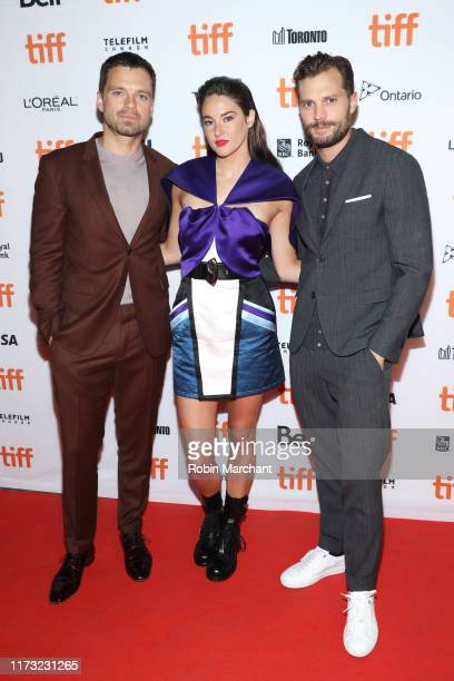 "Sebastian Stan, Shailene Woodley and Jamie Dornan attend ""Endings, Beginnings"" premiere during the 2019 Toronto International Film Festival at..."