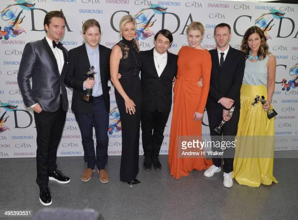 Sebastian Stan Shane Gabier Nadja Swarovski Christopher Peters Greta GerwigTim Coppens and Irene Neuwirth attend the winners walk during the 2014...