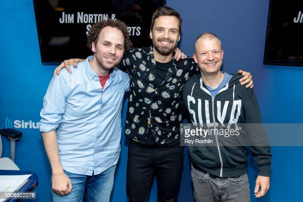 Sebastian Stan visits the Jim Norton and Sam Roberts show to discuss The Avengers at SiriusXM Studios on July 31 2018 in New York City