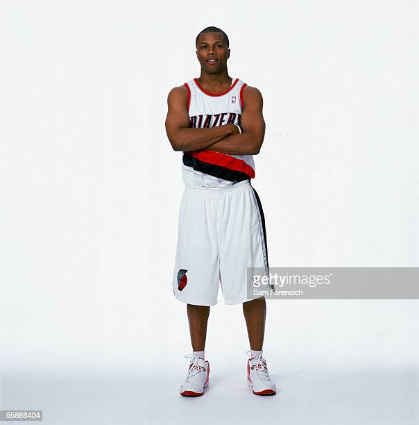 Sebastian Telfair of the Portland Trail Blazers poses for a portrait during the Portland Trail Blazers Media Day on October 3 at the Rose Garden...