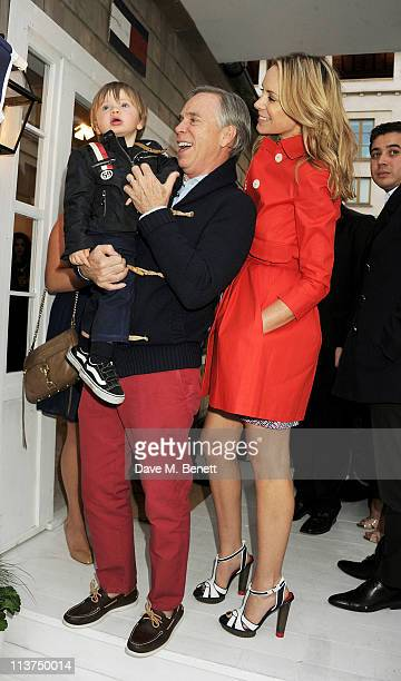 Sebastian Thomas Hilfiger designer Tommy Hilfiger and wife attends the launch of the new Tommy Hilfiger pop up shop at Tommy Hilfiger 'Prep World'...