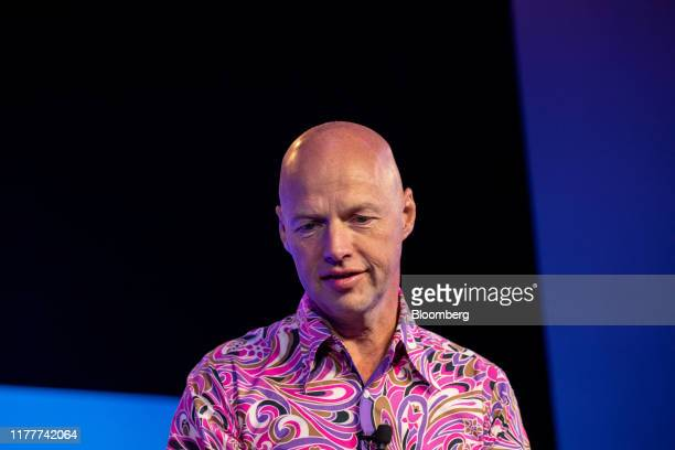 Sebastian Thrun, chief executive officer of Kitty Hawk Corp. And co-founder of Udacity Inc., pauses while speaking during the Wall Street Journal...