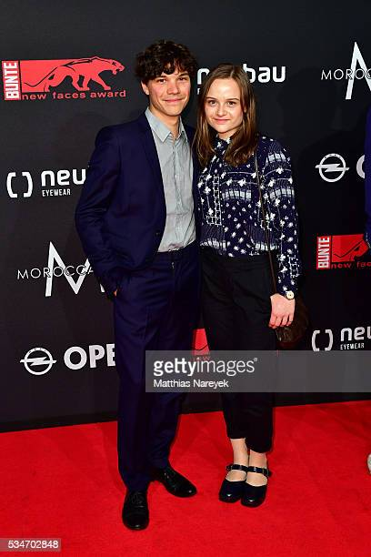 Sebastian Urzendowsky and his sister Lena during the New Faces Award Film 2015 at ewerk on May 26, 2016 in Berlin, Germany.