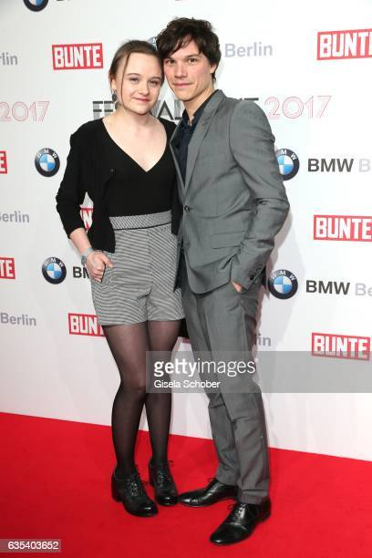 Sebastian Urzendowsky and his sister Lena Urzendowsky during the BUNTE & BMW Festival Night 2017 during the 67th Berlinale International Film...