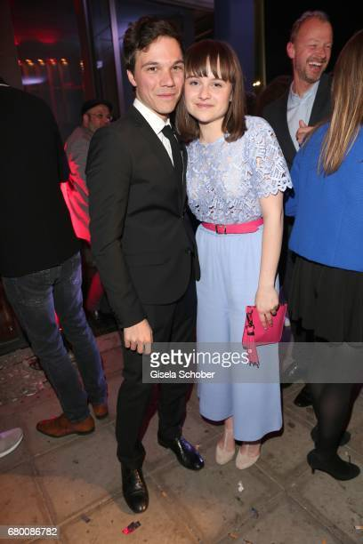 Sebastian Urzendowsky and his sister Lena Urzendowsky during the New Faces Award Film at Haus Ungarn on April 27, 2017 in Berlin, Germany.