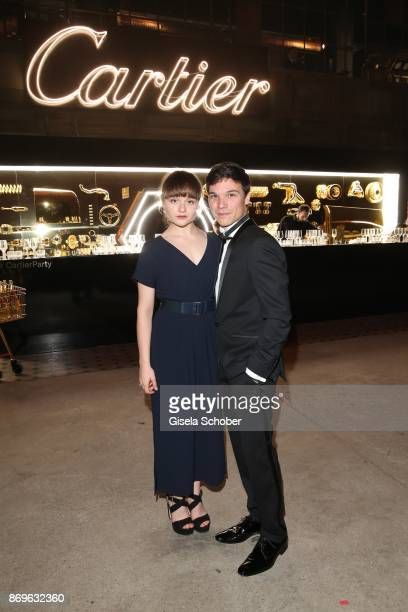 Sebastian Urzendowsky and his sister Lena Urzendowsky during the 'When the Ordinary becomes Precious #CartierParty Berlin ' at Old Power Station on...