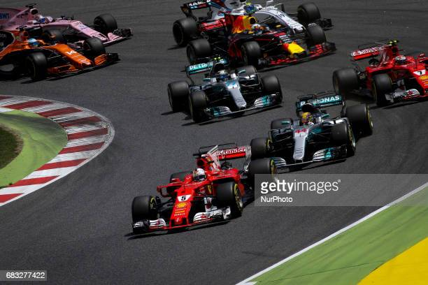 Sebastian Vettel and Lewis Hamilton during the race of GP of Spain in Montmeló at Catalunya's Circuit on May 14 2017