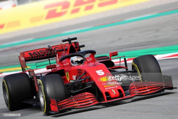 Sebastian Vettel and the Ferrari SF 1000 during the day 4 of the formula 1 testing on 26 February 2020 in Barcelona Spain