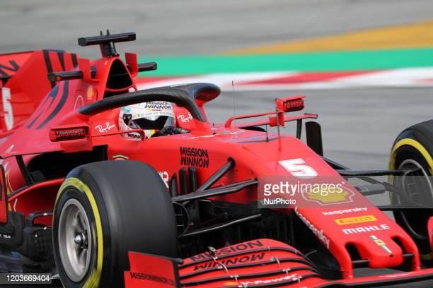 Sebastian Vettel and the Ferrari SF 1000 during the day 5 of the formula 1 testing on 27 February 2020 in Barcelona Spain