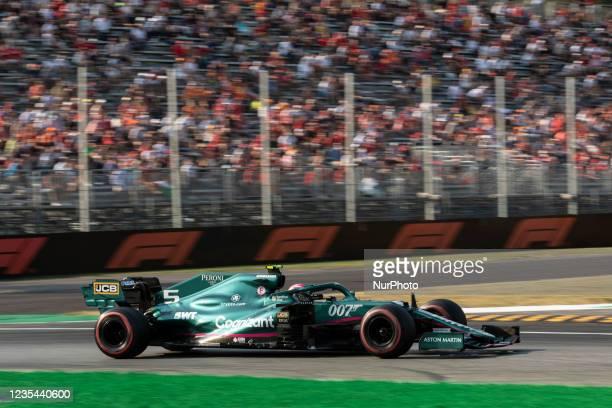 Sebastian Vettel, Aston Martin competes during the Formula 1 Heineken Gran Premio D'italia 2021, Italian Grand Prix, 14th round of the 2021 FIA...