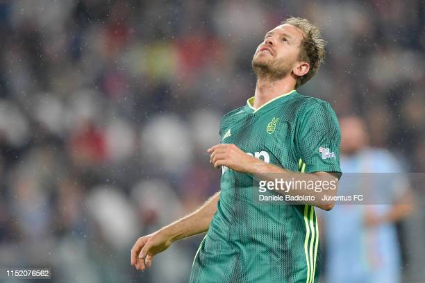 Sebastian Vettel during the 'Partita Del Cuore' Charity Match at Allianz Stadium on May 27, 2019 in Turin, Italy.