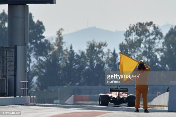 Sebastian Vettel during the winter test days at the Circuit de Catalunya in Montmelo February 18 2019