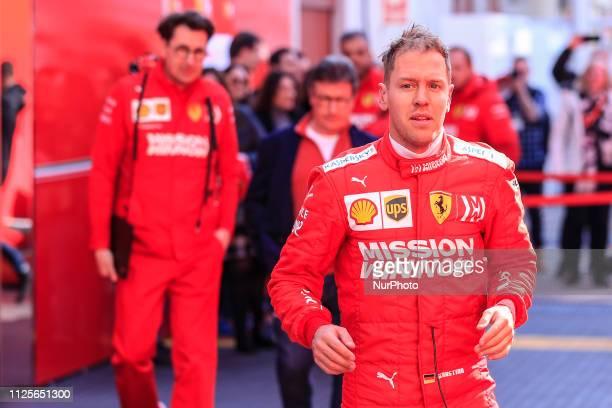 Sebastian Vettel from Germany with 05 Scuderia Ferrari Mission Winnow SF90 portrait during the Formula 1 2019 PreSeason Tests at Circuit de Barcelona...