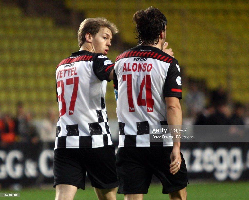 Soccer - Charity Match - Celebrity v Formula One Drivers - Stade Louis II : News Photo
