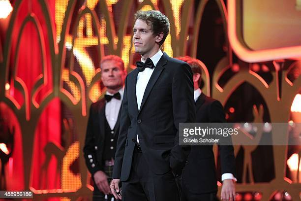 Sebastian Vettel is seen on stage during the Bambi Awards 2014 show on November 13 2014 in Berlin Germany