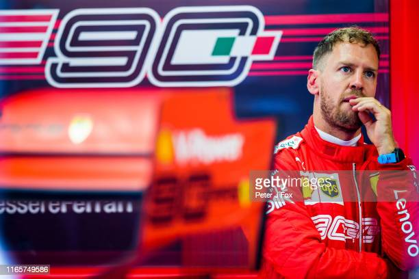 Sebastian Vettel of Ferrari and Germany during practice for the F1 Grand Prix of Hungary at Hungaroring on August 02 2019 in Budapest Hungary