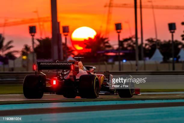 Sebastian Vettel of Ferrari and Germany during practice for the F1 Grand Prix of Abu Dhabi at Yas Marina Circuit on November 29, 2019 in Abu Dhabi,...
