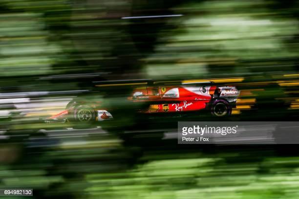 Sebastian Vettel of Ferrari and Germany during the Canadian Formula One Grand Prix at Circuit Gilles Villeneuve on June 11 2017 in Montreal Canada