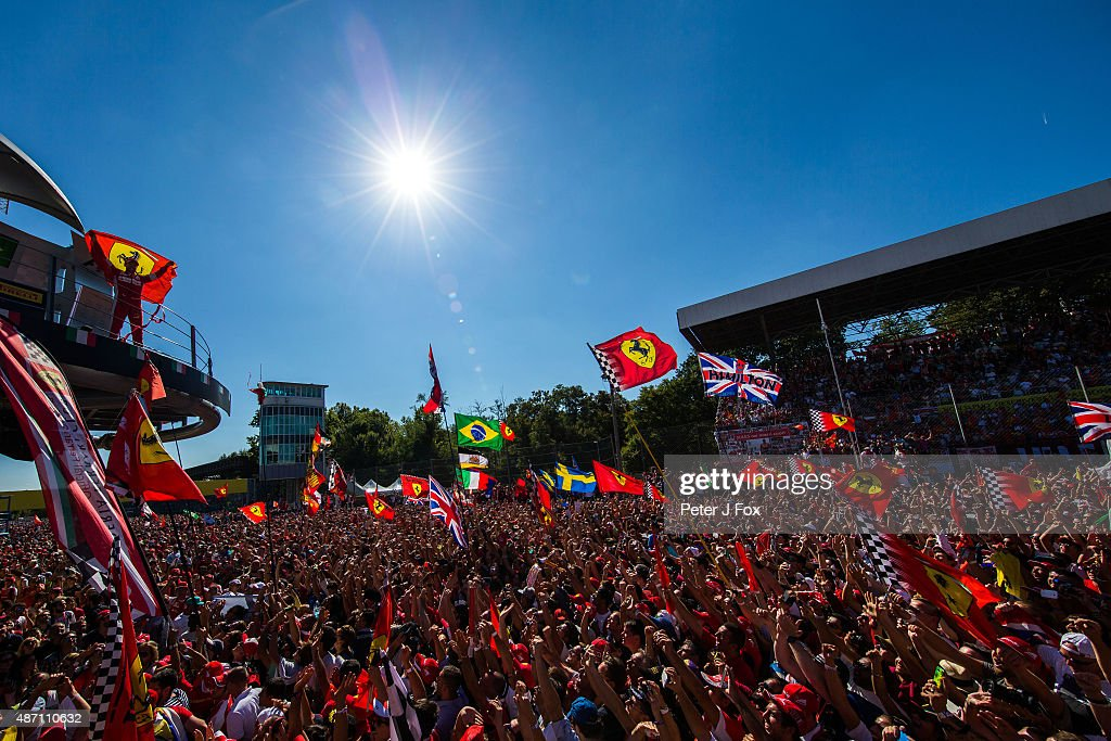 Sebastian Vettel of Ferrari and Germany during the Formula One Grand Prix of Italy at Autodromo di Monza on September 6, 2015 in Monza, Italy.