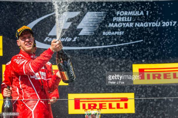 Sebastian Vettel of Ferrari and Germany during the Formula One Grand Prix of Hungary at Hungaroring on July 30 2017 in Budapest Hungary