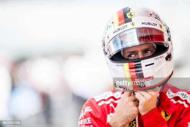 Sebastian Vettel of Ferrari and Germany during the Formula One Grand Prix of France at Circuit Paul Ricard on June 24 2018 in Le Castellet France