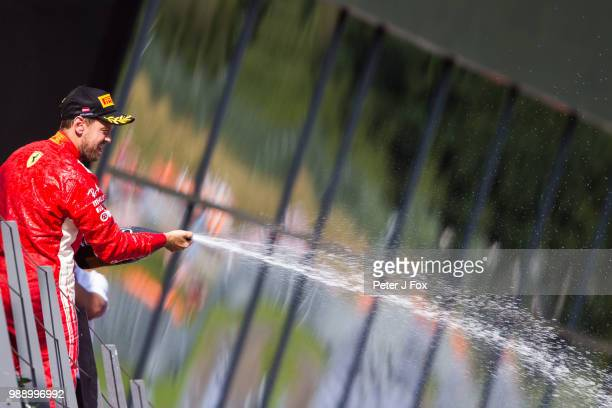 Sebastian Vettel of Ferrari and Germany during the Formula One Grand Prix of Austria at Red Bull Ring on July 1 2018 in Spielberg Austria