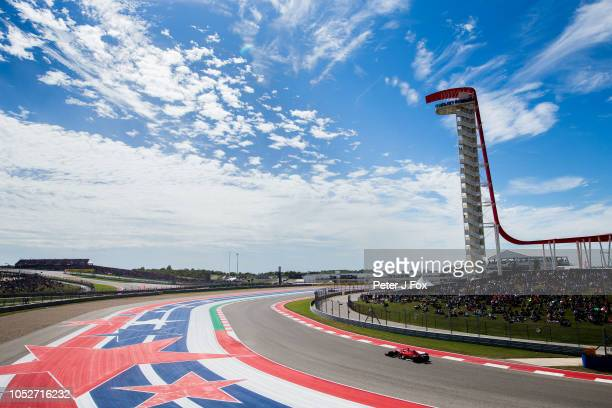 Sebastian Vettel of Ferrari and Germany during the United States Formula One Grand Prix at Circuit of The Americas on October 21 2018 in Austin...