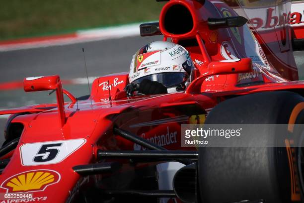 Sebastian Vettel of Ferrari during the first training session of GP of Spain in Montmeló at Catalunya's Circuit on May 12 2017