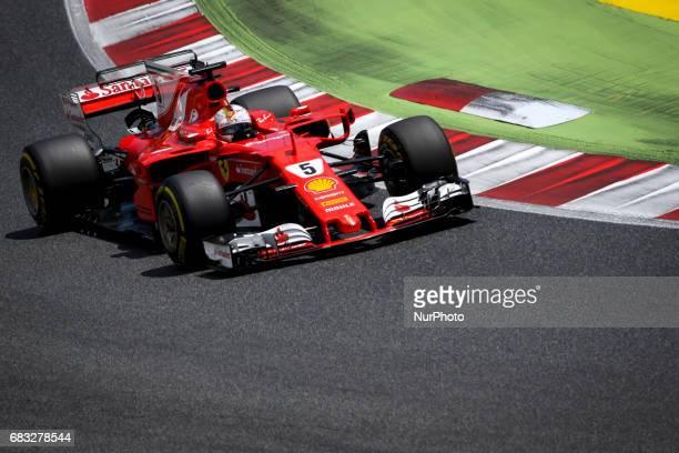 Sebastian Vettel of Ferrari during the race of GP of Spain in Montmeló at Catalunya's Circuit on May 14 2017