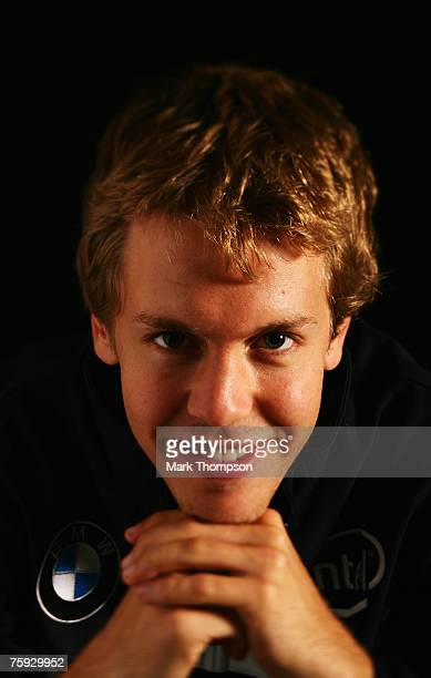 Sebastian Vettel of Germany and BMW Sauber poses for a photograph during previews prior to the British Formula One Grand Prix at Silverstone on July...