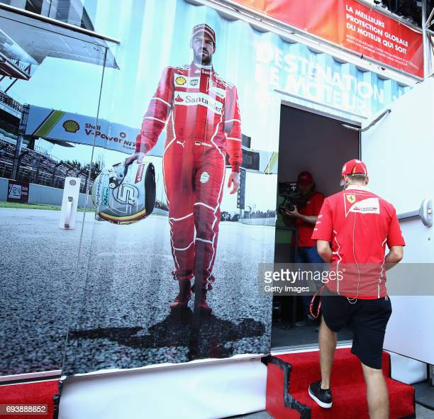 Sebastian Vettel of Germany and Ferrari at a Shell event during previews for the F1 Grand Prix of Canada at Circuit Gilles Villeneuve on June 8 2017...