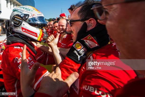 Sebastian Vettel of Germany and Ferrari during the Formula One Grand Prix of Hungary at Hungaroring on July 30 2017 in Budapest Hungary