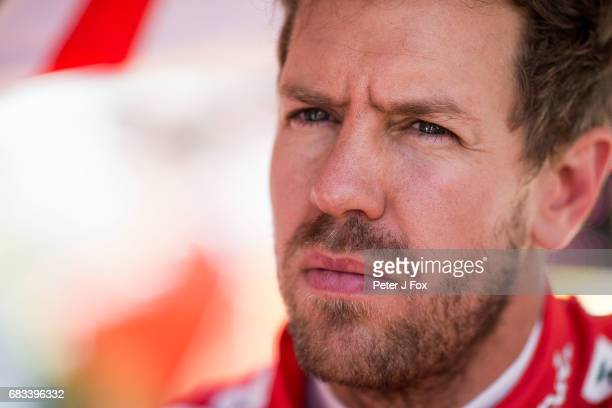 Sebastian Vettel of Germany and Ferrari during the Spanish Formula One Grand Prix at Circuit de Catalunya on May 14 2017 in Montmelo Spain