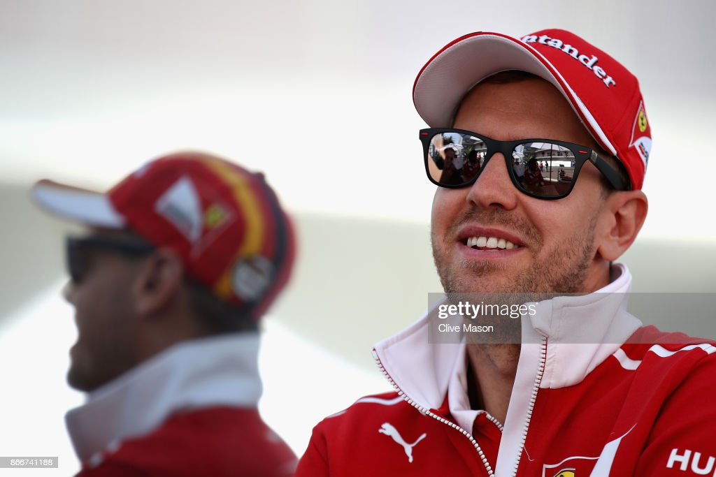 Sebastian Vettel of Germany and Ferrari in the Paddock during previews to the Formula One Grand Prix of Mexico at Autodromo Hermanos Rodriguez on October 26, 2017 in Mexico City, Mexico.