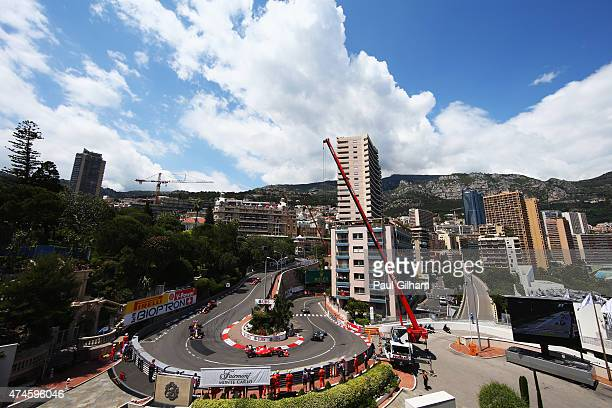 Sebastian Vettel of Germany and Ferrari rounds the hairpin during the Monaco Formula One Grand Prix at Circuit de Monaco on May 24 2015 in MonteCarlo...
