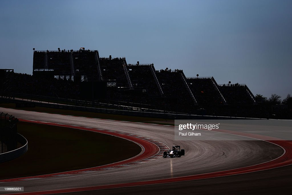 Sebastian Vettel of Germany and Red Bull Racing drives during the United States Formula One Grand Prix at the Circuit of the Americas on November 18, 2012 in Austin, Texas.
