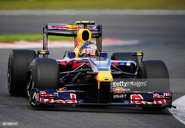 Sebastian Vettel of Germany and Red Bull Racing drives during the Belgian Grand Prix at the Circuit of Spa Francorchamps on August 30 2009 in Spa...
