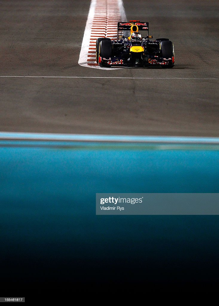 Sebastian Vettel of Germany and Red Bull Racing in action during the Abu Dhabi Formula One Grand Prix at the Yas Marina Circuit on November 4, 2012 in Abu Dhabi, United Arab Emirates.