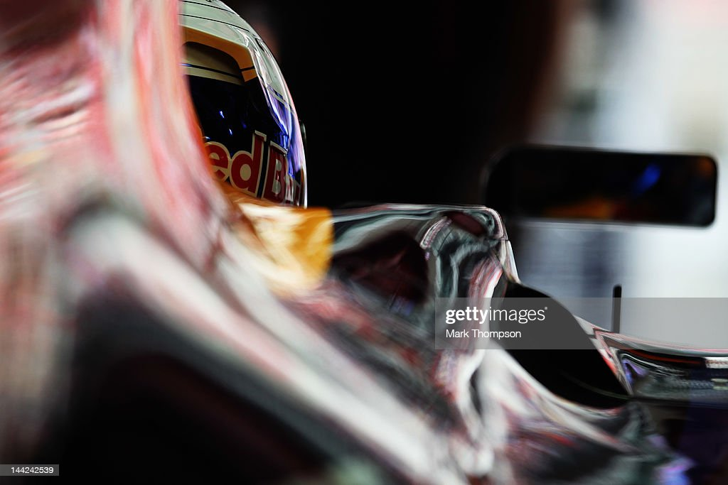 Sebastian Vettel of Germany and Red Bull Racing prepares to drive during qualifying for the Spanish Formula One Grand Prix at the Circuit de Catalunya on May 12, 2012 in Barcelona, Spain.