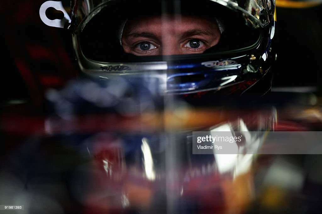 Sebastian Vettel of Germany and Red Bull Racing prepares to drive during the Brazilian Formula One Grand Prix at the Interlagos Circuit on October 18, 2009 in Sao Paulo, Brazil.