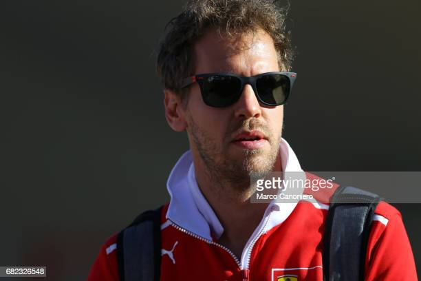 DE CATALUNYA MONTMELò BARCELONA SPAIN Sebastian Vettel of Germany and Scuderia Ferrari in the Paddock during the Spanish Formula One Grand Prix